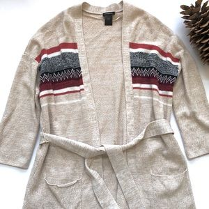 Ann Taylor belted cardigan sweater